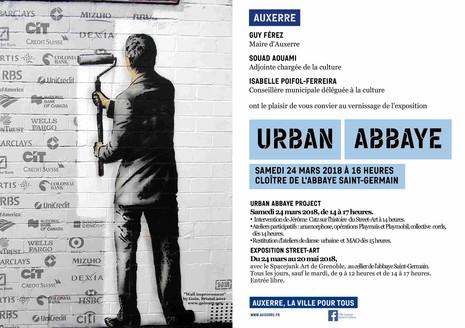 Affiche Urban Abbaye. Invitation